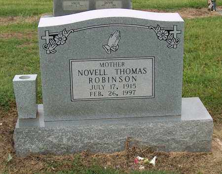 THOMAS ROBINSON, NOVELL - Mississippi County, Arkansas | NOVELL THOMAS ROBINSON - Arkansas Gravestone Photos