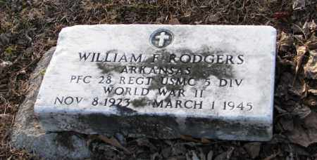 RODGERS (VETERAN WWII), WILLIAM F. - Mississippi County, Arkansas | WILLIAM F. RODGERS (VETERAN WWII) - Arkansas Gravestone Photos