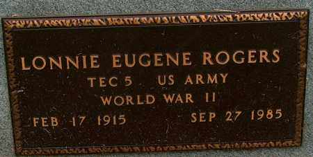 ROGERS (VETERAN WWII), LONNIE EUGENE - Mississippi County, Arkansas | LONNIE EUGENE ROGERS (VETERAN WWII) - Arkansas Gravestone Photos