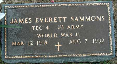 SAMMONS, JAMES EVERETT - Mississippi County, Arkansas | JAMES EVERETT SAMMONS - Arkansas Gravestone Photos