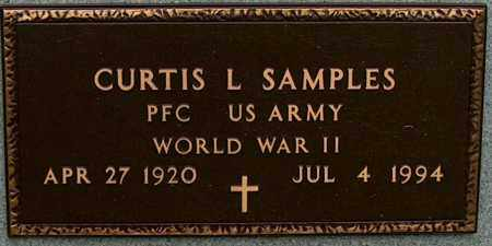 SAMPLES (VETERAN WWII), CURTIS L - Mississippi County, Arkansas | CURTIS L SAMPLES (VETERAN WWII) - Arkansas Gravestone Photos