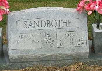 SANDBOTHE, BOBBIE - Mississippi County, Arkansas | BOBBIE SANDBOTHE - Arkansas Gravestone Photos