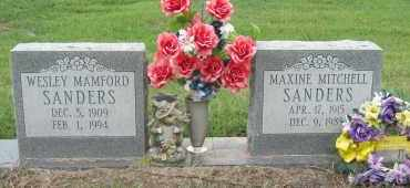 MITCHELL SANDERS, MAXINE - Mississippi County, Arkansas | MAXINE MITCHELL SANDERS - Arkansas Gravestone Photos