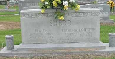 SHEDD, MARTHA LORETTE - Mississippi County, Arkansas | MARTHA LORETTE SHEDD - Arkansas Gravestone Photos