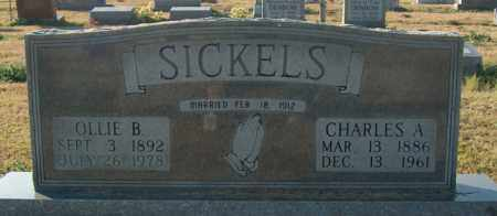 SICKELS, OLLIE B - Mississippi County, Arkansas | OLLIE B SICKELS - Arkansas Gravestone Photos