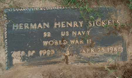 SICKELS (VETERAN WWII), HERMAN HENRY - Mississippi County, Arkansas | HERMAN HENRY SICKELS (VETERAN WWII) - Arkansas Gravestone Photos