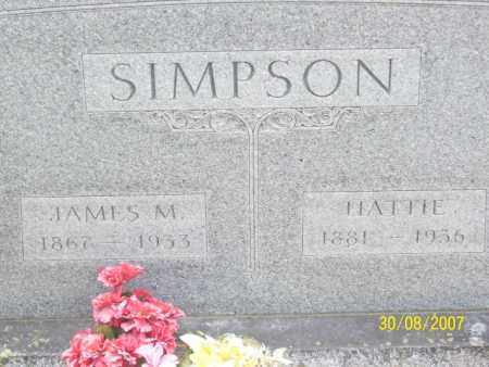 SIMPSON, JAMES M. - Mississippi County, Arkansas | JAMES M. SIMPSON - Arkansas Gravestone Photos