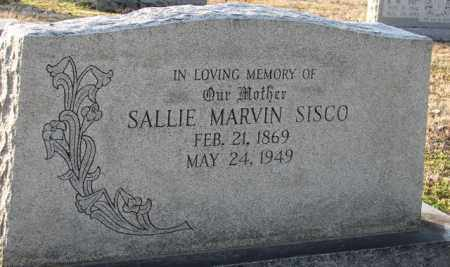 MARVIN SISCO, SALLIE - Mississippi County, Arkansas | SALLIE MARVIN SISCO - Arkansas Gravestone Photos