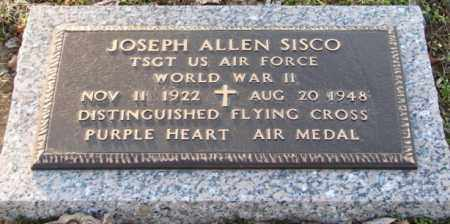 SISCO (VETERAN WWII), JOSEPH ALLEN - Mississippi County, Arkansas | JOSEPH ALLEN SISCO (VETERAN WWII) - Arkansas Gravestone Photos
