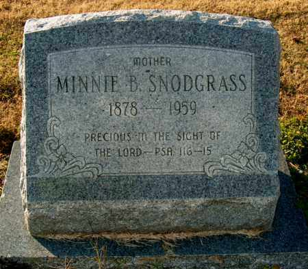SNODGRASS, MINNIE B - Mississippi County, Arkansas | MINNIE B SNODGRASS - Arkansas Gravestone Photos