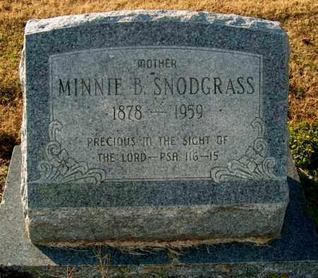 SNODGRASS, MINNIE B - Mississippi County, Arkansas | MINNIE B SNODGRASS - Arkansas Gravestone Photos