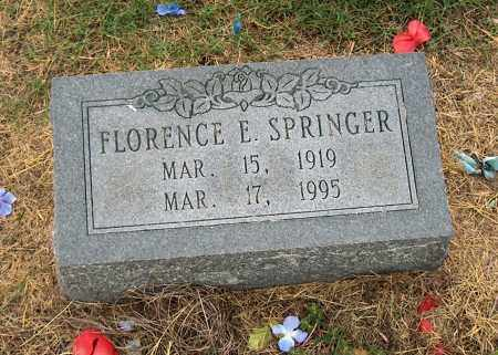 SPRINGER, FLORENCE E - Mississippi County, Arkansas | FLORENCE E SPRINGER - Arkansas Gravestone Photos