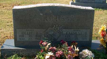 SPRINGER, EARNEST B - Mississippi County, Arkansas | EARNEST B SPRINGER - Arkansas Gravestone Photos