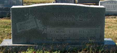 SPRINGER, RAYMOND L - Mississippi County, Arkansas | RAYMOND L SPRINGER - Arkansas Gravestone Photos