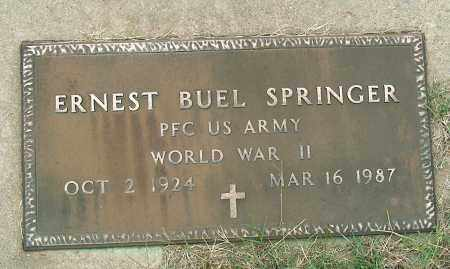 SPRINGER (VETERAN WWII), ERNEST BUEL - Mississippi County, Arkansas | ERNEST BUEL SPRINGER (VETERAN WWII) - Arkansas Gravestone Photos