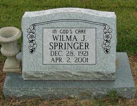 SPRINGER, WILMA J - Mississippi County, Arkansas | WILMA J SPRINGER - Arkansas Gravestone Photos