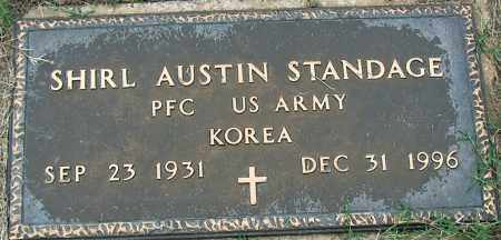 STANDAGE (VETERAN KOR), SHIRL AUSTIN - Mississippi County, Arkansas | SHIRL AUSTIN STANDAGE (VETERAN KOR) - Arkansas Gravestone Photos