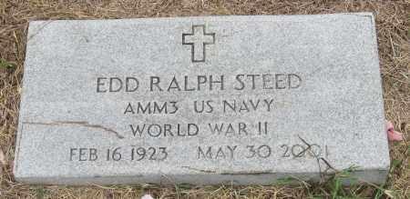 STEED (VETERAN WWII), EDD RALPH - Mississippi County, Arkansas | EDD RALPH STEED (VETERAN WWII) - Arkansas Gravestone Photos