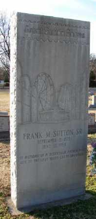 SUTTON, SR., FRANK M. - Mississippi County, Arkansas | FRANK M. SUTTON, SR. - Arkansas Gravestone Photos