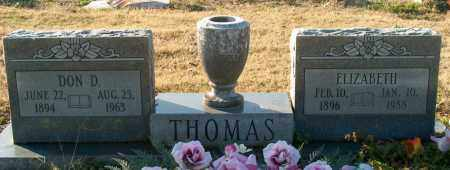THOMAS, ELIZABETH - Mississippi County, Arkansas | ELIZABETH THOMAS - Arkansas Gravestone Photos