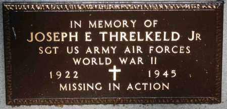 THRELKELD, JR  (VETERAN WWII,, JOSEPH E - Mississippi County, Arkansas | JOSEPH E THRELKELD, JR  (VETERAN WWII, - Arkansas Gravestone Photos