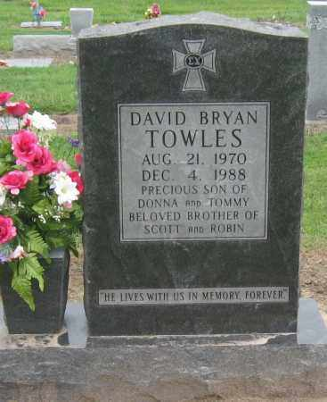 TOWLES, DAVID BRYAN - Mississippi County, Arkansas | DAVID BRYAN TOWLES - Arkansas Gravestone Photos
