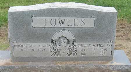 TOWLES, SR, THOMAS MILTON - Mississippi County, Arkansas | THOMAS MILTON TOWLES, SR - Arkansas Gravestone Photos