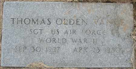 VANCE (VETERAN WWII), THOMAS OLDEN - Mississippi County, Arkansas | THOMAS OLDEN VANCE (VETERAN WWII) - Arkansas Gravestone Photos