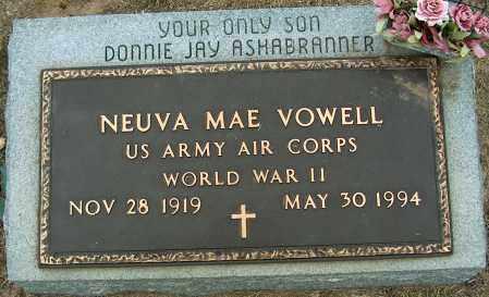 VOWELL (VETERAN WWII), NEUVA MAE - Mississippi County, Arkansas | NEUVA MAE VOWELL (VETERAN WWII) - Arkansas Gravestone Photos