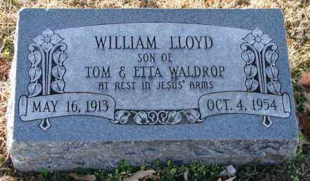 WALDROP, WILLIAM LLOYD - Mississippi County, Arkansas | WILLIAM LLOYD WALDROP - Arkansas Gravestone Photos