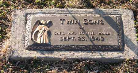 WARD, INFANT TWIN SONS - Mississippi County, Arkansas | INFANT TWIN SONS WARD - Arkansas Gravestone Photos