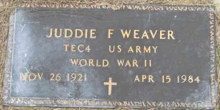 WEAVER (VETERAN WWII), JUDDIE F - Mississippi County, Arkansas | JUDDIE F WEAVER (VETERAN WWII) - Arkansas Gravestone Photos
