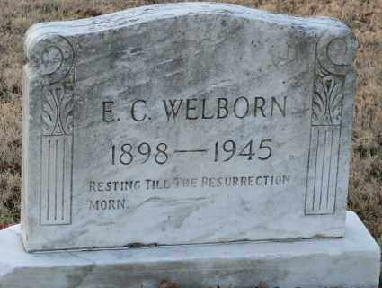 WELBORN, E. C. - Mississippi County, Arkansas | E. C. WELBORN - Arkansas Gravestone Photos