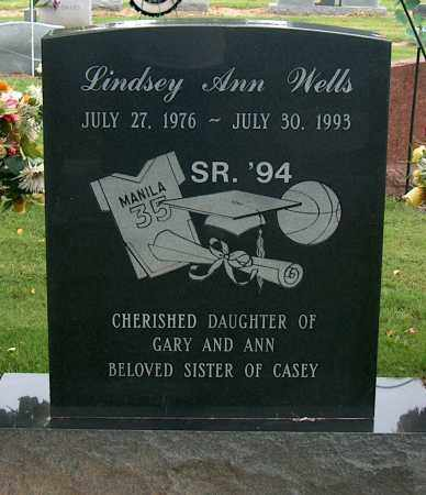 WELLS, LINDSEY ANN - Mississippi County, Arkansas | LINDSEY ANN WELLS - Arkansas Gravestone Photos