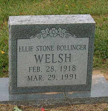 WELSH, ELLIE STONE BOLLINGER - Mississippi County, Arkansas | ELLIE STONE BOLLINGER WELSH - Arkansas Gravestone Photos