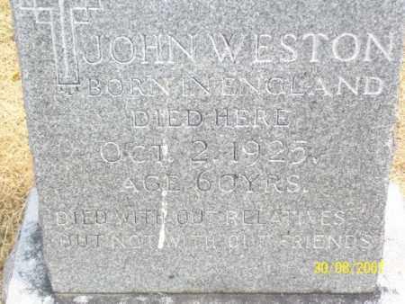 WESTON, JOHN - Mississippi County, Arkansas | JOHN WESTON - Arkansas Gravestone Photos
