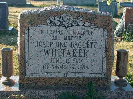 BAGGETT WHITAKER, JOSEPHINE - Mississippi County, Arkansas | JOSEPHINE BAGGETT WHITAKER - Arkansas Gravestone Photos