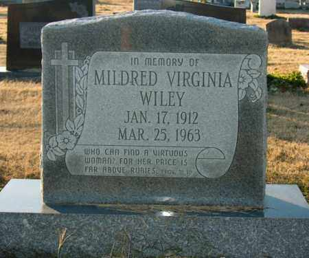 WILEY, MILDRED VIRGINIA - Mississippi County, Arkansas | MILDRED VIRGINIA WILEY - Arkansas Gravestone Photos