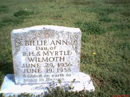 WILMOTH, BILLIE ANN - Mississippi County, Arkansas | BILLIE ANN WILMOTH - Arkansas Gravestone Photos