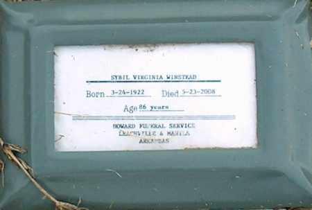 WINSTEAD, SYBIL VIRGINIA - Mississippi County, Arkansas | SYBIL VIRGINIA WINSTEAD - Arkansas Gravestone Photos