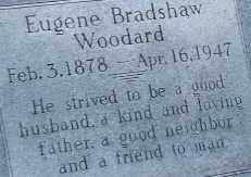 WOODARD, EUGENE BRADSHAW (CLOSE UP) - Mississippi County, Arkansas | EUGENE BRADSHAW (CLOSE UP) WOODARD - Arkansas Gravestone Photos