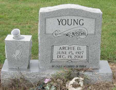 YOUNG, ARCHIE D. - Mississippi County, Arkansas | ARCHIE D. YOUNG - Arkansas Gravestone Photos