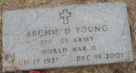 YOUNG (VETERAN WWII), ARCHIE D - Mississippi County, Arkansas | ARCHIE D YOUNG (VETERAN WWII) - Arkansas Gravestone Photos