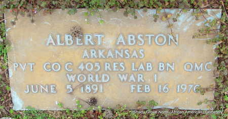 ABSTON (VETERAN WWI), ALBERT - Monroe County, Arkansas | ALBERT ABSTON (VETERAN WWI) - Arkansas Gravestone Photos