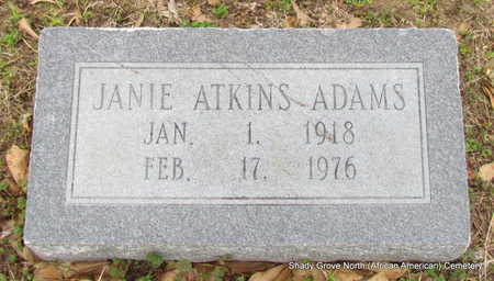 ATKINS ADAMS, JANIE - Monroe County, Arkansas | JANIE ATKINS ADAMS - Arkansas Gravestone Photos