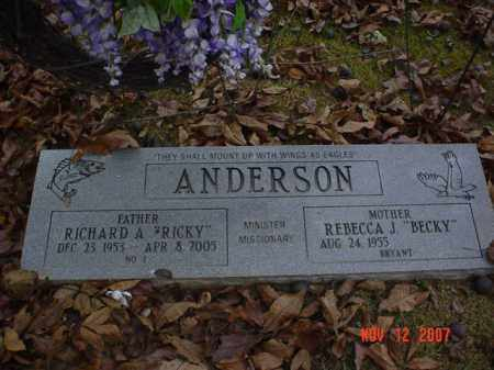 ANDERSON, RICHARD A. 'RICKY' - Monroe County, Arkansas | RICHARD A. 'RICKY' ANDERSON - Arkansas Gravestone Photos