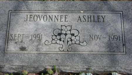 ASHLEY, JEOVONNEE - Monroe County, Arkansas | JEOVONNEE ASHLEY - Arkansas Gravestone Photos