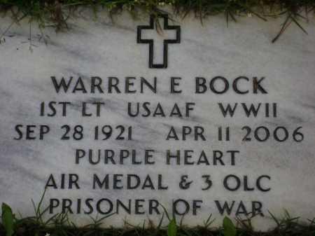 BOCK (VETERAN WWII, POW), WARREN E. - Monroe County, Arkansas | WARREN E. BOCK (VETERAN WWII, POW) - Arkansas Gravestone Photos