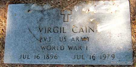CAIN  (VETERAN WWI), VIRGIL - Monroe County, Arkansas | VIRGIL CAIN  (VETERAN WWI) - Arkansas Gravestone Photos