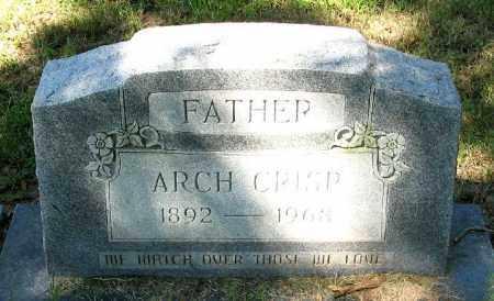 CRISP, ARCH - Monroe County, Arkansas | ARCH CRISP - Arkansas Gravestone Photos